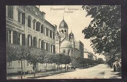 JU2-69 FRANZENBAD SYNAGOGE - Jewish