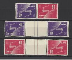 ISRAEL.  YT   N° 27a-27b-28b  Neuf **  1950 - Israel
