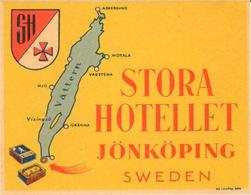 ETIQUETA DE HOTEL  -  STORA HOTELLET  -JÖNKÖPING  -SWEDEN (SUECIA) - Etiquetas De Hotel
