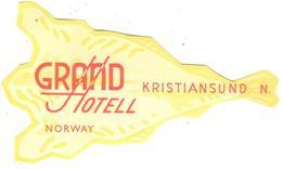 ETIQUETA DE HOTEL  - GRAND HOTELL  -KRISTIANSUND -NORWAY (NORUEGA) - Etiquetas De Hotel