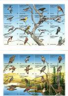 Georgia.1996 Birds. 2 M/S + 2 S/S: 2x16v X15 +2x 100  Michel # 152-83 + BL 5-6 - Géorgie