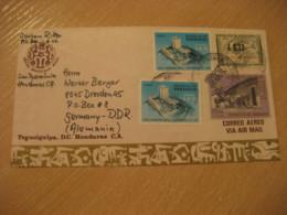 TEGUCIGALPA Hotel Maya 1970 To Dresden Germany 4 Stamp Cancel Air Mail Cover HONDURAS - Honduras
