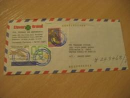 SAN PEDRO SULA 1983 To Barrington USA 3 Stamp Registered Cancel Air Mail Cover HONDURAS - Honduras
