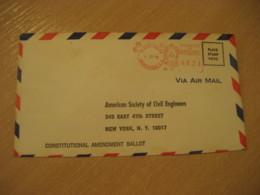 TEGUCIGALPA 1969 To New York USA Cancel Meter Air Mail Cover HONDURAS - Honduras