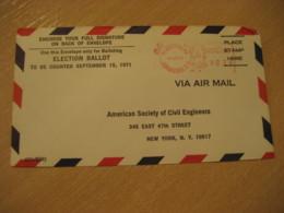 TEGUCIGALPA 1971 To New York USA Cancel Meter Air Mail Cover HONDURAS - Honduras