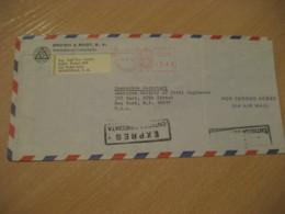 SAN PEDRO SULA 1970 To New York USA Cancel Meter Air Mail Expres Express Special Delivery Cover HONDURAS - Honduras