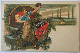 Heil Der Deutschen Arbeit, Schmied, Fabrik Industrie, Ca. 1900  - Berufe