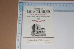 Château Les Moulinières 1979 M. Poujol Monbazillac 0,68 L - Bergerac