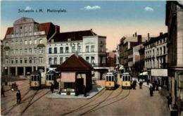 Schwerin - Marienplatz Mit Strassenbahn - Schwerin