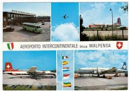 AEREI - AVIAZIONE - AEROPORTO INTERCONTINENTALE DELLA MALPENSA - 1966 - BUS - PULLMAN - Aerodromi