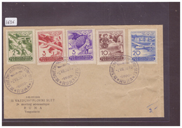 JUGOSLAVIJA - MEETING AERONAUTIQUE RUMA 1950 - FDC No 611-615 - PREMIER JOUR - FIRST DAY COVER - AUSGABETAG - 1945-1992 Sozialistische Föderative Republik Jugoslawien