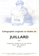 JUILLARD : Carte Annonce LITHOGRAPHIE PARIS - Juillard