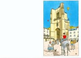 JUILLARD : Carte Double Pour VILLE DE VILLEFRANCHE - Juillard