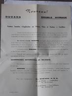 Ancienne Publicité Double Vitrage Ducana Charleroi Et Court-Saint-Etienne ... NA . - Publicités