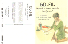 JUILLARD : Carte Salon BD Suisse BD FIL En 2008 - Juillard