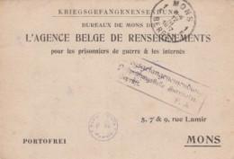 Deutsches Reich Postkarte 1916 POW - Germania