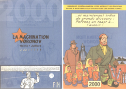 JUILLARD : Carte Voeux Pour DARGAUD En 2000 Blake Et Mortimer Machination Voronov - Juillard