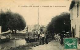 040119 - 33 LANGOIRAN LE TOURNE - Promenade Sur Les Bords De L'Estey - Péniche Fernand BN2907  Transport Maritime - France