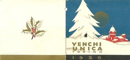 """2144 """" VENCHI UNICA - TORINO - CALENDARIO 1936 """" ORIGINALE - Petit Format : 1921-40"""