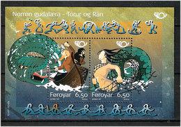 Faroe Islands  2004 Norden: Myths And Legends, Tor And Rav Mi 485-486 In Bloc 16,   MNH(**) - Färöer Inseln