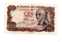 Espagne - 100 Pesetas De 1970-2N-voir état - Espagne