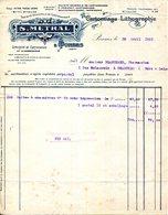 26.DROME.PONSAS.CARTONNAGE.LITHOGRAPHIE.S.METRAL. - Imprimerie & Papeterie