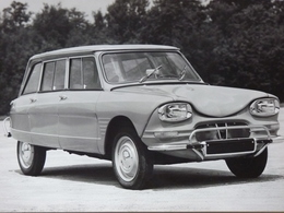 Rare!  Belle Photo Ancienne Ami 6 Break Citroën Voiture Ancienne - Automobiles