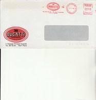 A 1 -  Enveloppe  Avec Flamme BUGATTI à PARIS - Marcophilie (Lettres)
