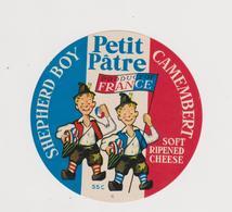 étiquette De Fromage:   Camembert  :moyen  Format : Petit  Pâtre France - Allemagne - Kaas
