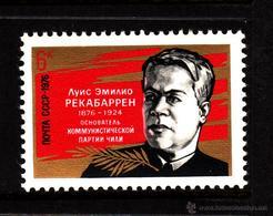 RUSIA 1976 - CENTENARIO DE LUIS EMILIO RECABARREN - COMUNISTA CHILENO - YVERT Nº 4263** - 1923-1991 USSR