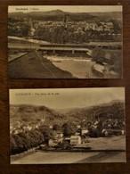 2 Stuks Oude        Post Kaarten  1 Ettelbruck   1 Dierirch   LUXEMBOURG - Diekirch
