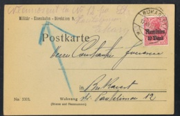 1918 Militärverwaltung Rumänien Mi DR-RUM 9  Sn RO 3N9  Yt RO OA27  AFA DR-RUM 9 Postkarte Gelaufen - Germania