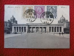 TIMBRE 3 COULEURS CACHET SUR CPA WIEN - 1850-1918 Imperium