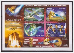 0745 Somalia 2002 Asian Aerospace Technology Shenzhou  Mos Eurasiasat S/S MNH - Africa