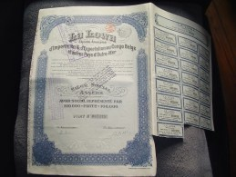 """Part """"La Lowa"""" Importation Et Exportation Au Congo Belge Et Outre Mer , 1925. - Afrique"""