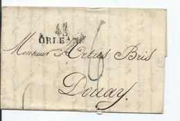 Lettre De Orleans Pour Douai 1824 - Marcofilia (sobres)