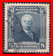 EL SALVADOR AÑO 1945.. 8 CENTAVOS GEN. JUAN JOSÉ CANAS - El Salvador