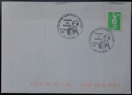 B14 Cachet Bureau Temporaire Auchel 62 Pas De Calais Le Lycée Lavoisier S'expose 7 8 Mai 1994 - Bolli Commemorativi