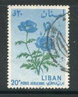 LIBAN- Poste Aérienne Y&T N°298- Oblitéré (fleurs) - Liban