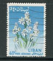 LIBAN- Poste Aérienne Y&T N°299- Oblitéré (fleurs) - Liban