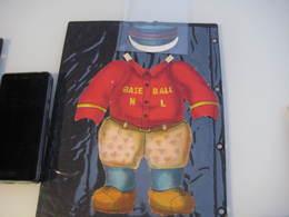 Base-pall Paper Doll Outfit  Teddy Bear : Ottman Litho Company C1907, Original Envelope : Bear  5 Costumes SPORT RARE - Jouets Anciens