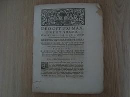 DEO OPTIMO MAX. UNI ET TRINO 1756 - Livres, BD, Revues