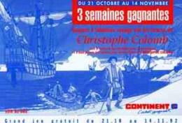 JUILLARD : Flyer Cristophe Colomb 1992 Pour MAGASIN CONTINENT - Juillard