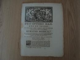 DEO OPTIMO MAX. UNI ET TRINO  QUAESTIO MEDICA 1754 - Livres, BD, Revues