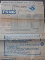3 Exempl. Pronostic Football - Voetbal  Prior1962 , Union St Gilloise , Beerschot , Schaerbeek , White Star, Etc .. NA - Billets De Loterie