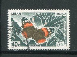 LIBAN- Poste Aérienne Y&T N°334- Oblitéré (papillons) - Liban