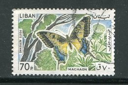 LIBAN- Poste Aérienne Y&T N°336- Oblitéré (papillons) - Liban