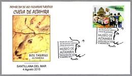 CUEVA DE ALTAMIRA - Pinturas Rupestres - Cave Paintings - Bos Taurus. Santillana Del Mar, Cantabria, 2015 - Prehistoria