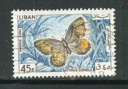 LIBAN- Poste Aérienne Y&T N°335- Oblitéré (papillons) - Liban