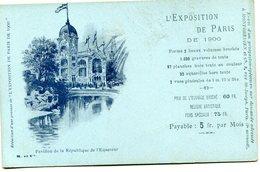 EQUATEUR(EXPOSITION DE PARIS 1900) - Equateur